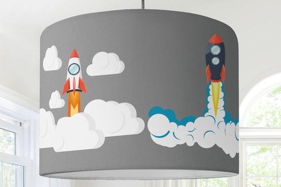 Lampenschirm Kinderzimmer Rakete Weltraum