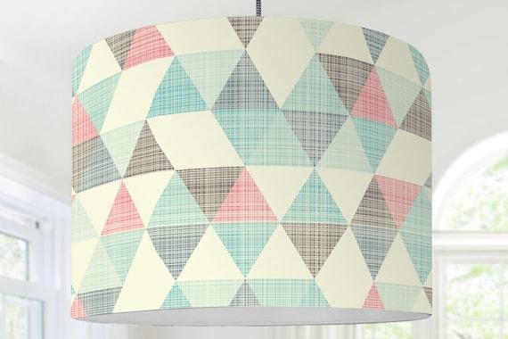 Lampenschirm Kinderzimmer Dreieck Muster grafisches Muster