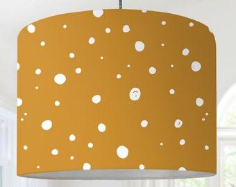 Hanging lamp lampshade mustard yellow white modern Scandinavian pattern modern Scandinavian minimalist