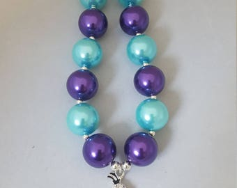 Olaf bubblegum bead necklace, chunky necklace, toddler jewelry