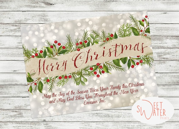 Business Christmas Cards.Business Christmas Card Holiday Card Corporation Card Christmas Digital Download Printed Cards