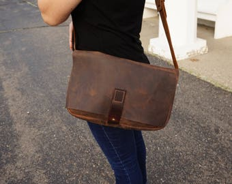 dbb1fb46e3 leather satchel women - leather messenger bag women - messenger bag leather  - leather crossbody bag - crossbody leather bags for women