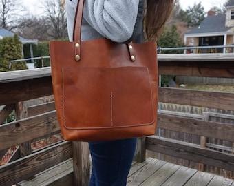 leather tote .leather tote bag. leather bag . handmade tote bag .  custom leather bag .brown leather tote.custom leather bag.leather bag