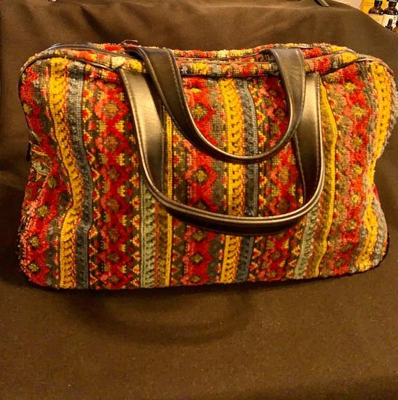 Vintage 50's Tapestry Needlepoint Large Purse Bag