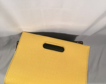 Vintage Yellow Handbag/ Clutch