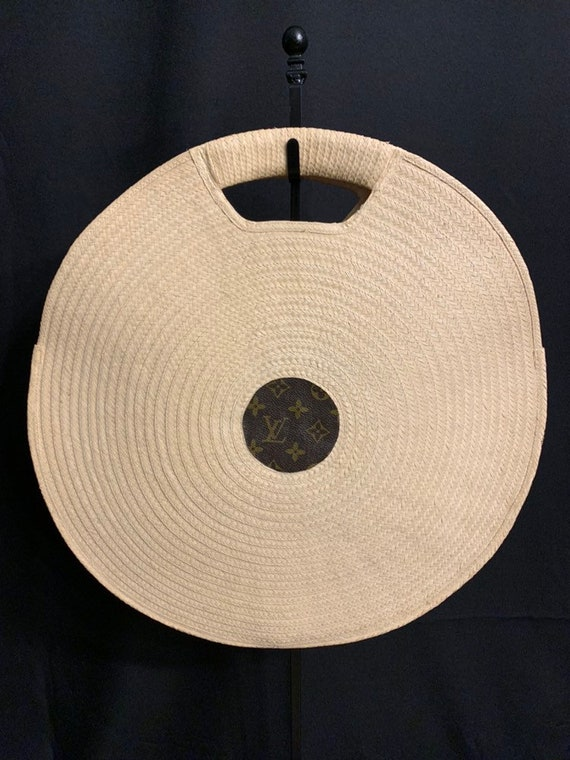 Vintage Round Wicker Basket Bag
