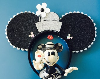 Ready to ship! Steamboat Minnie Pillbox Ears