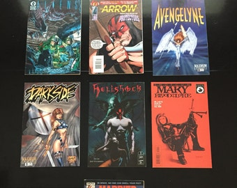 1st Issues! Comic Book Lot (7 Comics), Vintage Comic Book Collection.