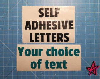 Personalised self-adhesive vinyl letter stickers   Custom Vinyl Lettering