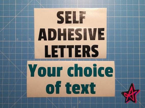 Personalised Self Adhesive Vinyl Letter Stickers Custom Etsy