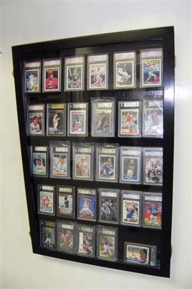 Baseball Football Sports Card Display Case Display Case For Graded Sports Cards Psa Beckett Graded Cards