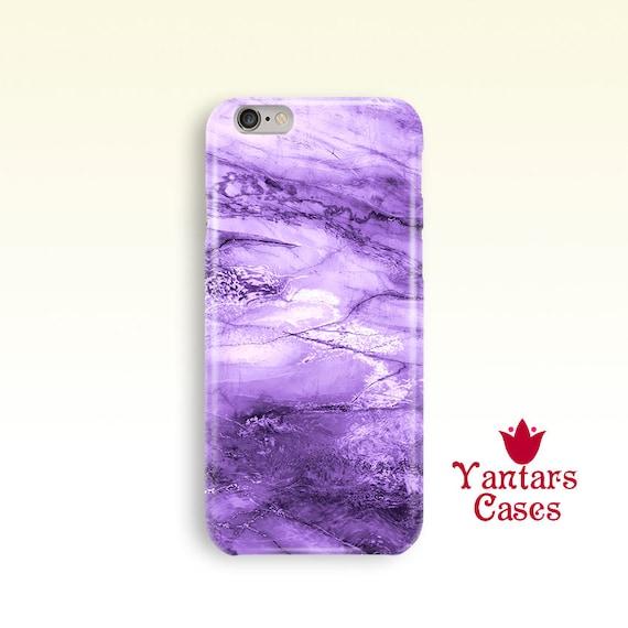 Purple marble iphone 6 case Stone iPhone 5 case Cute iphone 7  327b15760