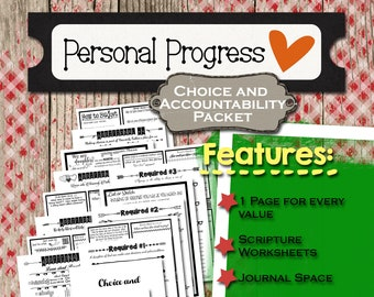 Choice and Accountability Personal Progress Packet