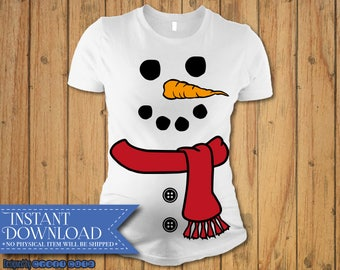 e977bab013c48 Snowman svg, Christmas Maternity svg, Baby Bump Christmas svg, Snowman Cut  File