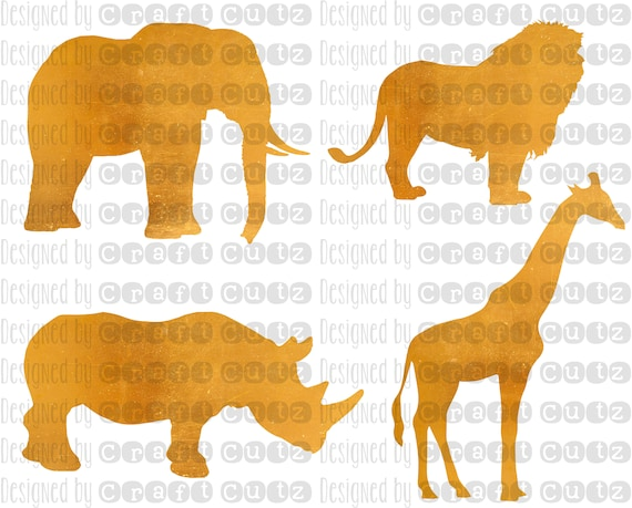 Safari Animals Svg Giraffe Dxf Elephant Cut File Lion Svg Etsy