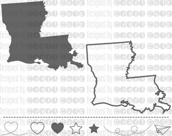 LOUISIANA svg, State svg Files, Louisiana Vector, United States svg, State Clip Art, Louisiana Cut File, Louisiana State Outline