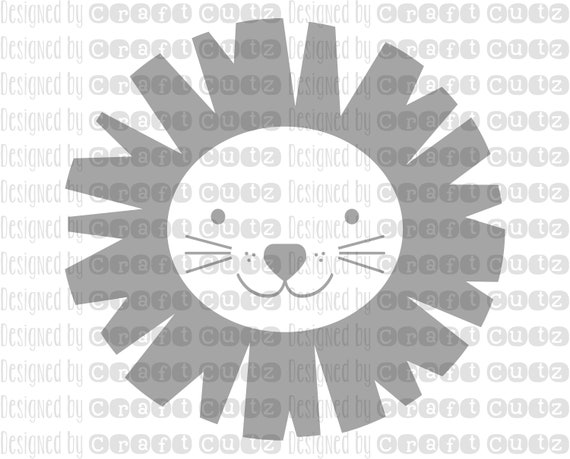 Baby Lion Svg Cute Lion Lion Cut File Animal Party Toddler Etsy