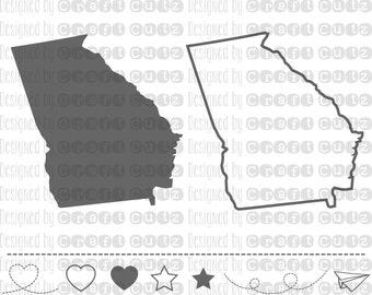 GEORGIA svg, State svg Files, Georgia Vector, United States svg, State Clip Art, Georgia Cut File, Georgia State Outline