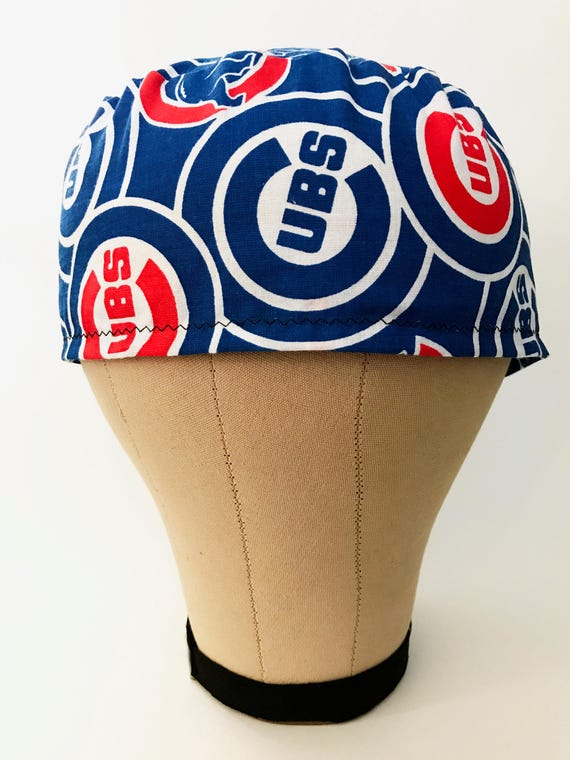 Cubs Men Sscrub Hat Surgical Hats Skull Caps Chef Etsy