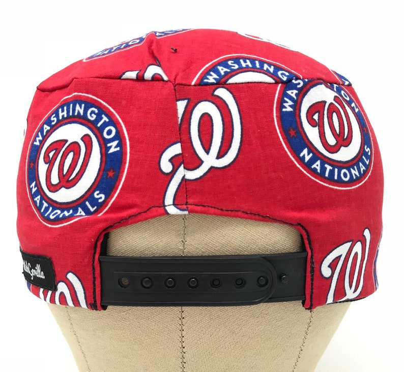 8f133ab1a Washington Nationals SNAPBACK Scrub Hat Men's/ Nationals MLB Baseball /  Surgical Hats / Skull Caps / Chef Cap / Surgery / Chef's Cap / Chemo