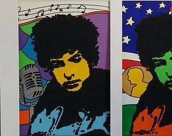 Portrayed Bob Dylan-portrait Bob Dylan