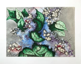 Spring's Favorite Fragrance, watercolor/ink/colored pencil