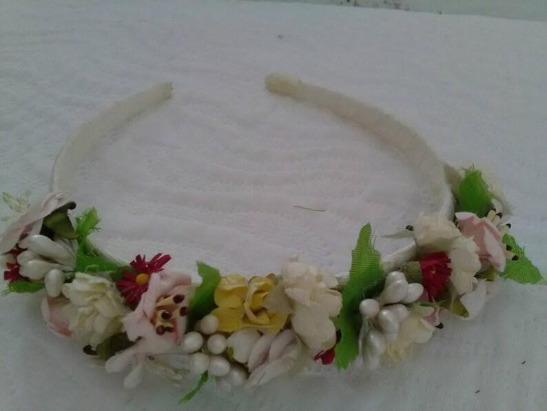 Fascia per capelli fatti a mano Comunione Matrimonio REGNO Unito Damigella D/'onore Festa