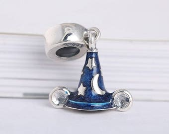 68158d962df ... clearance sorcerers hat charm fantasia mickey mouse inspired charm 925  silver new for pandora bracelet. buy egb silver disney ...