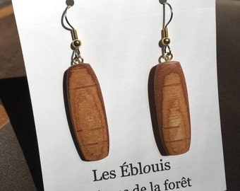 Wild woods of the boreal forest earrings.