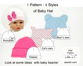 Baby Hat Beanie Sewing PDF Patterns ffdfc5d8f1e3
