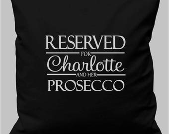 Personalised Cushion Prosecco Christmas Birthday Gift ADD YOUR NAME