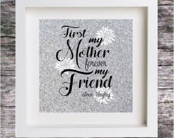 MOTHERS DAY Vinyl Sticker DECAL for Diy Box Frame (Sticker Only - does not include frame)