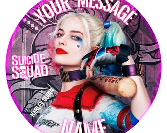 """Suicide Squad Harley Quinn. Cake Topper. Personalised Birthday Edible Print on Icing 7.6"""""""
