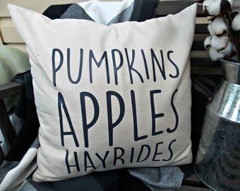 Pumpkin Pillow cover | Fall Pillow | Fall decor |