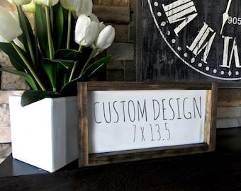 Custom Wood Sign | 7 x 13.5 | rustic decor | wood sign | farmhouse | wall decor