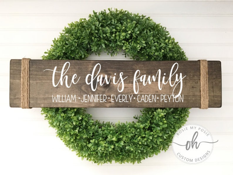 Family sign  Custom family sign  Personalized family sign  image 0