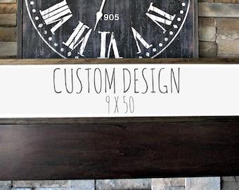 Custom Wood Sign | 9 x 50 | rustic decor | wood sign | farmhouse | wall decor