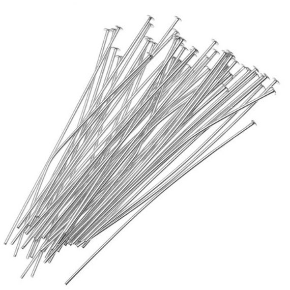 35mm, 21 Gauge Crafts- Nickel Free 1.4 Inch Antique Copper Small Flat Head Pins for Jewelry Making