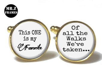 The Bride Cufflinks, Personalized Cufflinks, Wedding Cuff links, Custom Cufflinks, Photo Cufflinks, This ONE is My Favourite