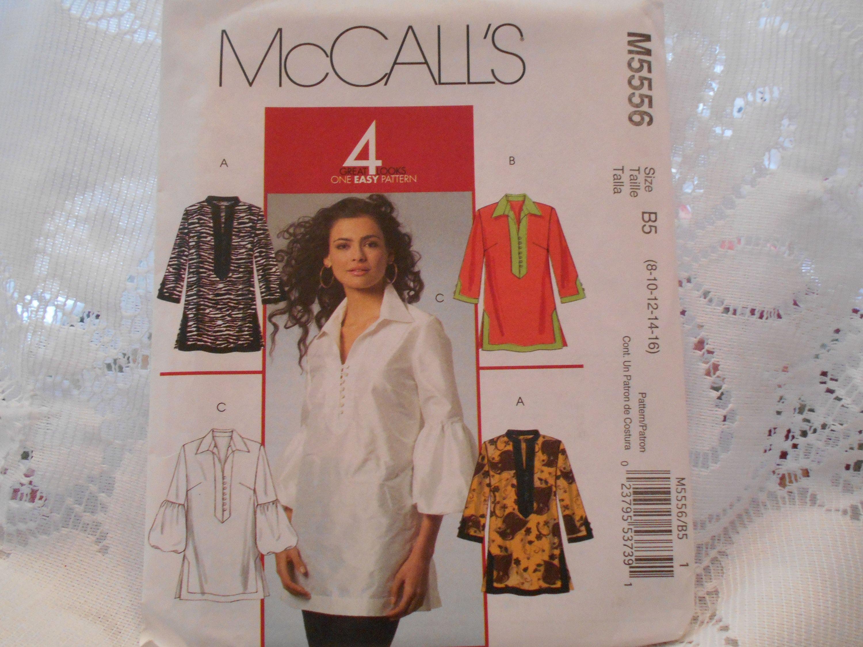 5e35ac99605ccf McCalls Tunic pattern womens PLUS SIZEtunic pattern Blouse   Etsy