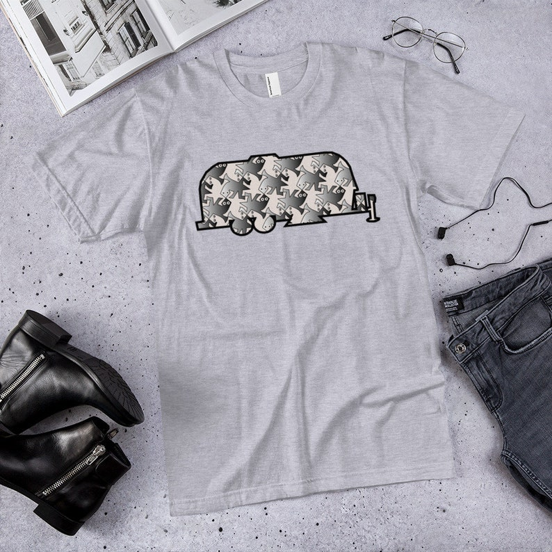 RV Gifts Airstream Trailer Camping Shirt Happy Camper Shirt Airstream Camper Airstream Gifts Airstream Tesselation Shirt Camping Gift