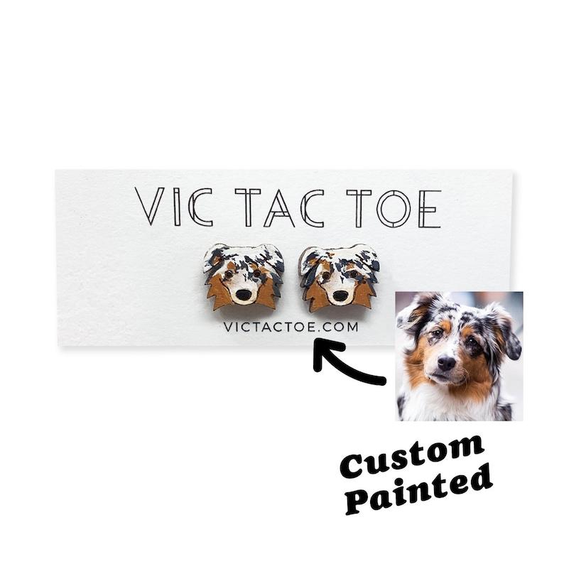 Custom Dog Earrings Dog Gift Personalized Dog Earrings image 1