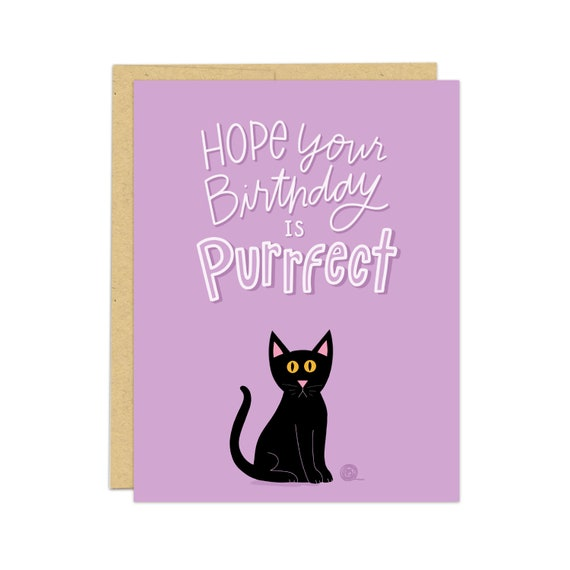 Cat Birthday Card For Lovers Animal