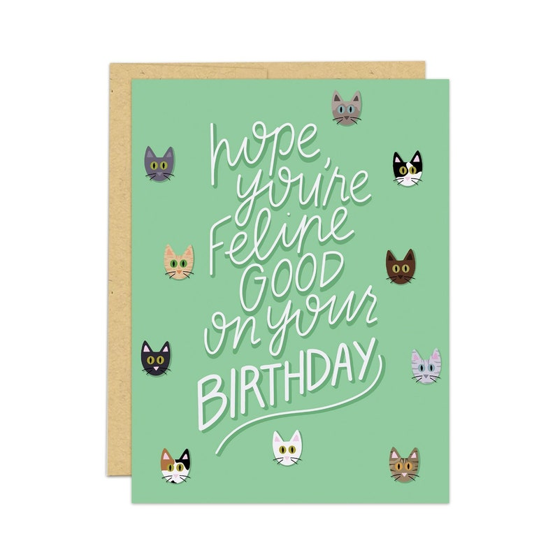 Cat Birthday Card For Lovers