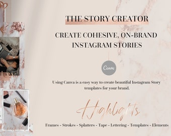 THE STORY CREATOR - Instagram Story template, Instagram branding, Instagram Stories, Rose Gold, Instagram Story Highlights Icons