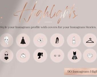 Feminine Highlights IG, Fashion + Flower Highlights IG, Instagram highlights