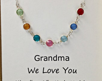 Personalized Grandmother Gifts, Family Birthstone Necklace, Grandmother Necklace, Personalized Birthstone Necklace, Birthstone Jewelry
