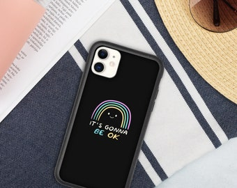 iphone case, Biodegradable phone cover, Positive Quote Phone Cover, Rainbow Art, Multiple Sizes Available, Free Shipping