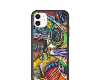 iphone Case, Biodegradable Phone Accessories, Abstract Art Phone Cover, Multiple Sizes Available, Free Shipping