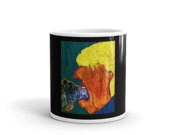 Anti-Trump Coffee Mug, Ceramic Novelty Mug, Original Trump Painting, Two Sizes Available, Free Shipping